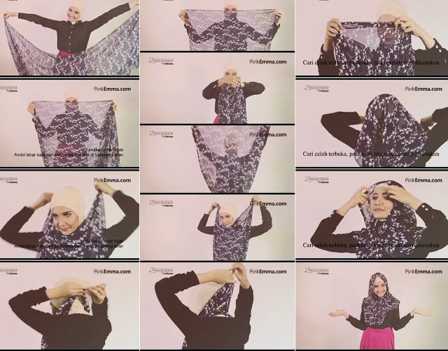 Tutorial Hijab Simple: Zaskia Sungkar Hijab Tutorial