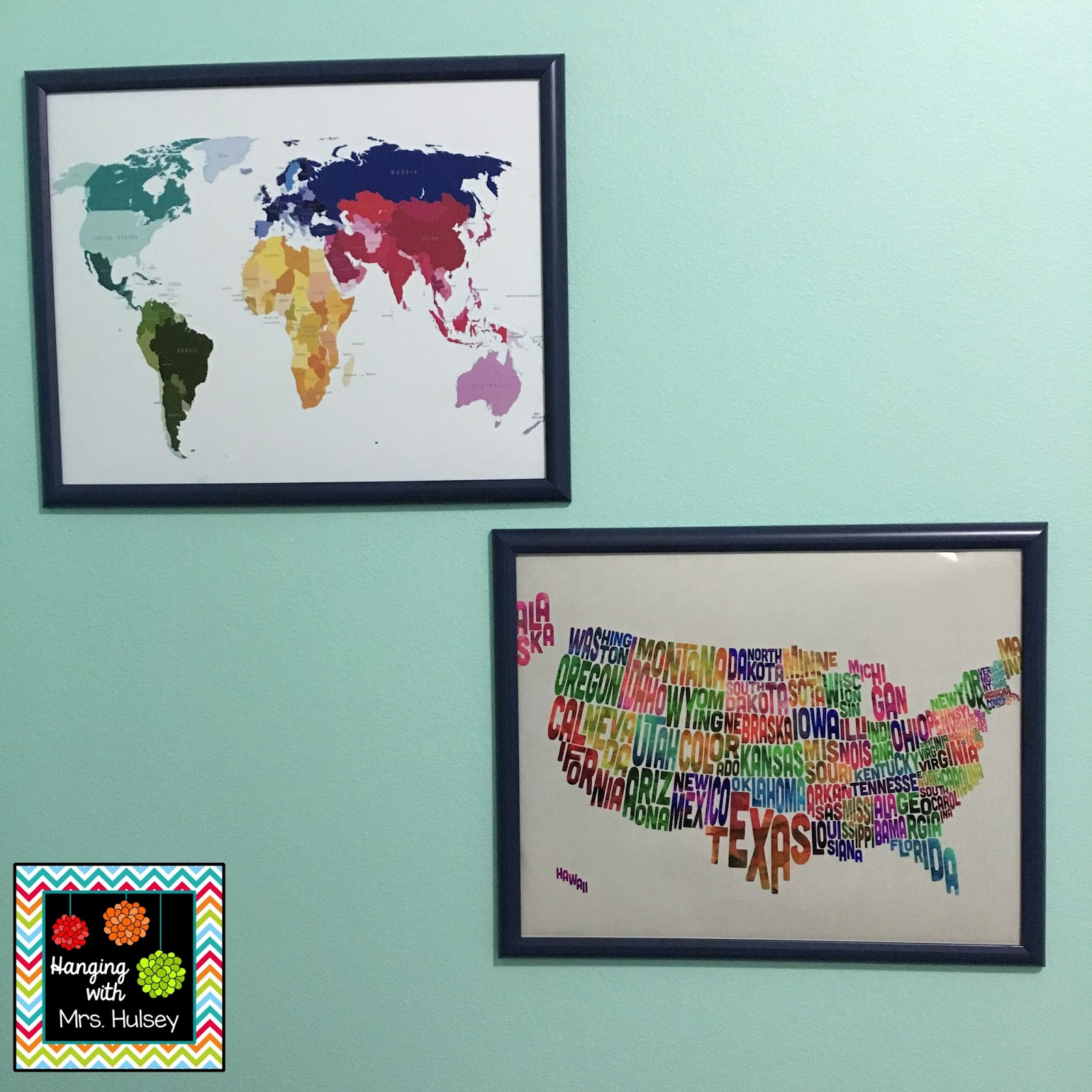 Office makeover and diy gallery wall hanging with mrs hulsey i gathered a wide selection of inspirational quotes free printables found online picture frames etc i bought a mirror from big lots jeuxipadfo Gallery