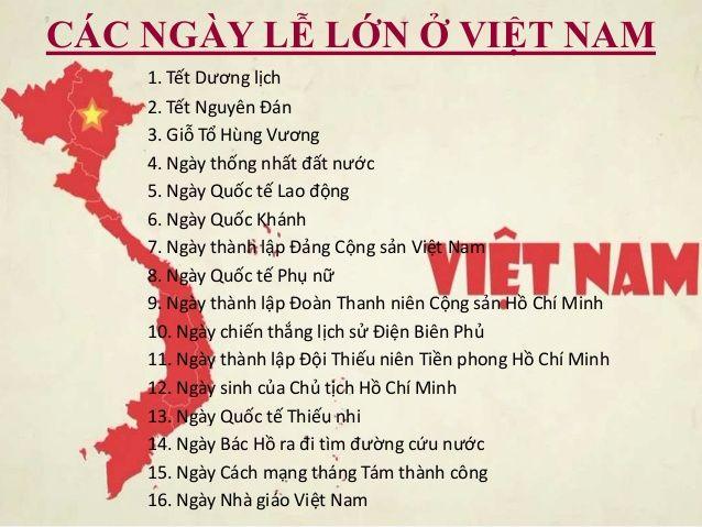 Tổng hợp các ngày lễ Việt Nam theo âm và dương lịch