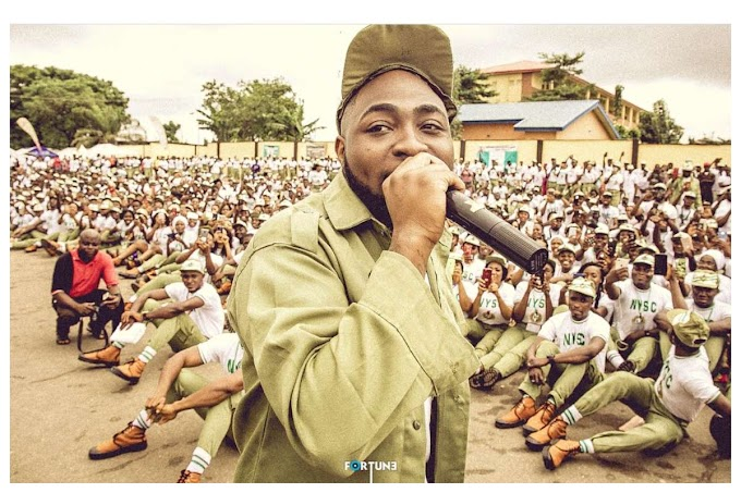 Davido Sends His NYSC Allowance To An Unknown Fan