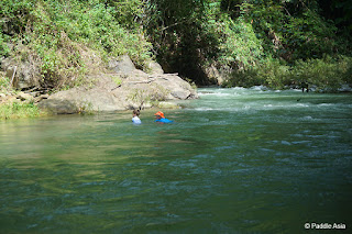Khao Sok creek swimming