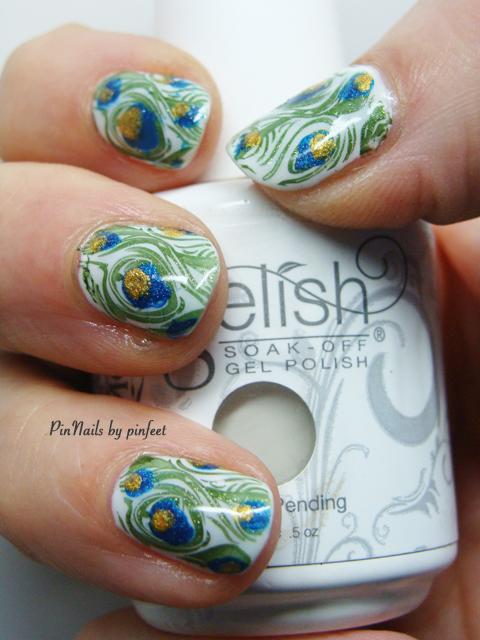 Pinnails Peacock Nails Uñas De Pavo Real