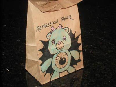 dibujo de los ositos cariñositos en bolsa de papel