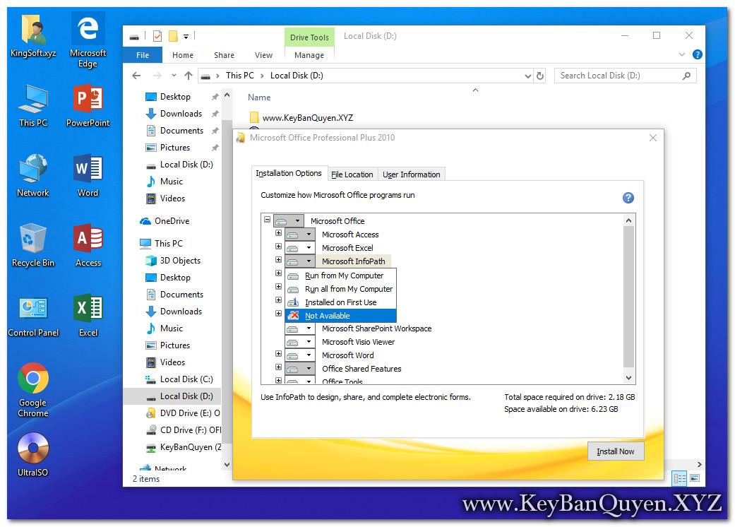 Hướng dẫn cài đặt Office 2010 Pro Plus