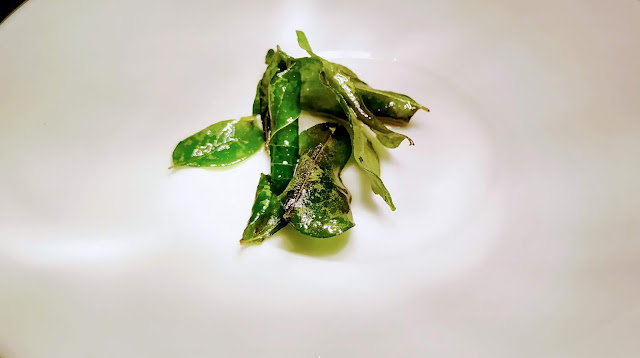 Fried curry leaves food recipe