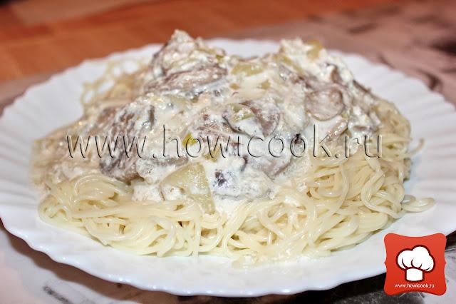 рецепт приготовления спагетти с соусом