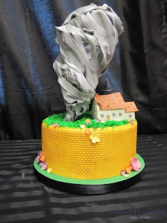 Wizard of Oz Tornado Cake by Intricate Icings