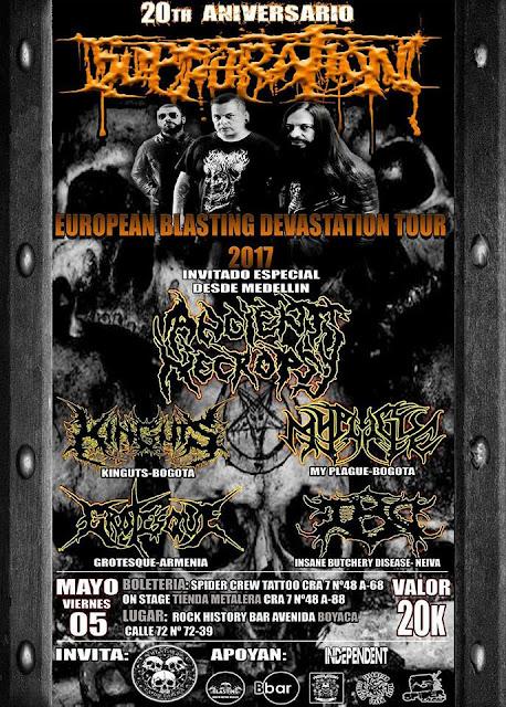 Top de las mejores bandas del metal Colombiano de los ultimos tiempos