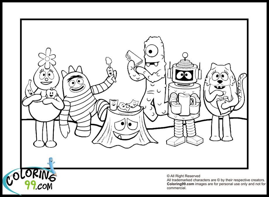 yogabbagabba coloring pages - photo #24
