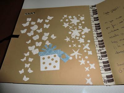 Detalle del interior de la tarjeta spinning de Noemi