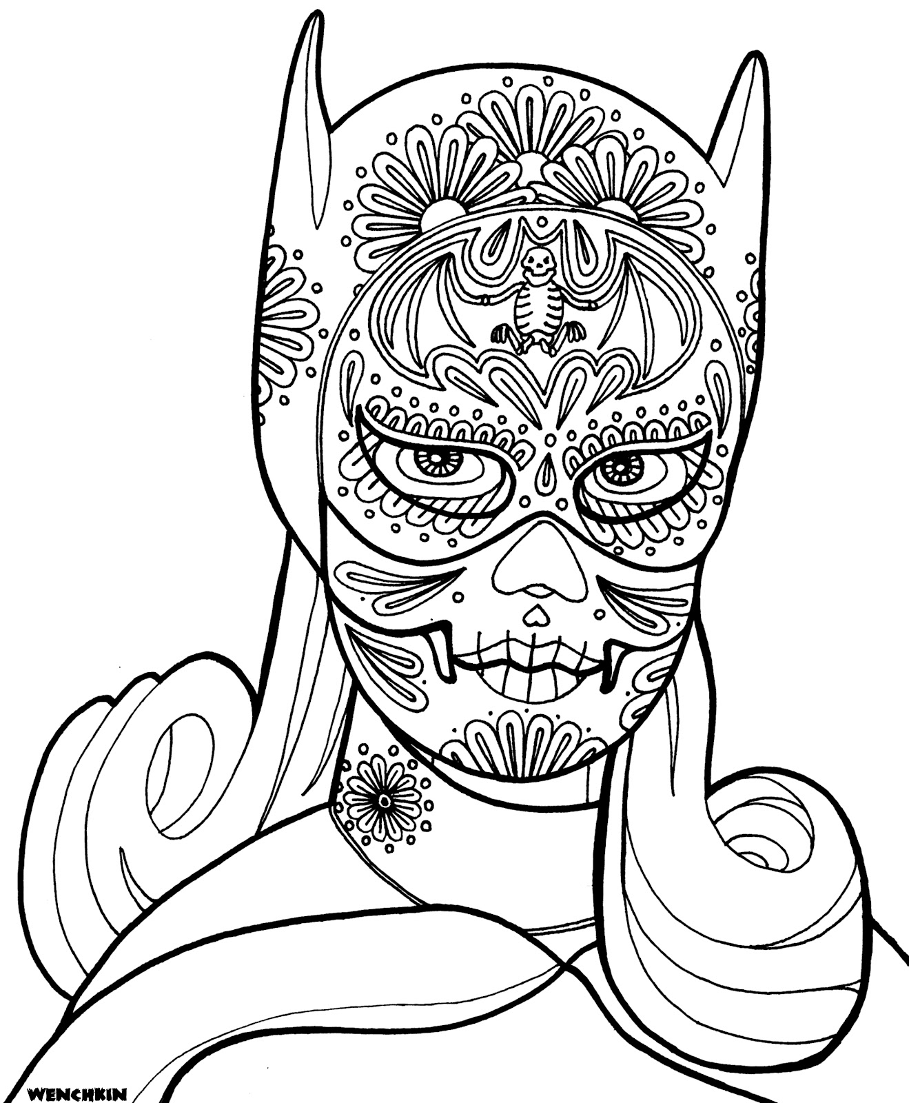 day of the dead skeleton coloring pages - yucca flats n m february 2012