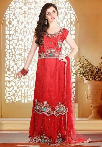 Latest Lacha Designs For Brides Traditional Lacha Dress