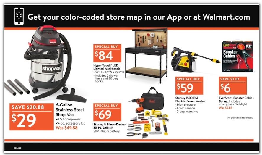 Walmart Friday tools 2018 ad