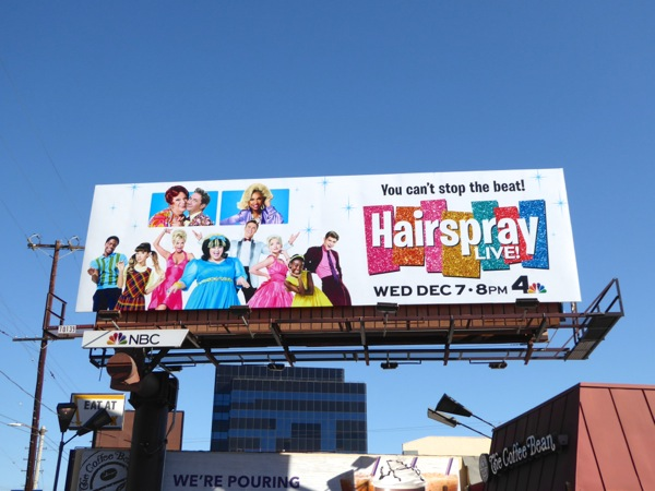 Hairspray Live TV billboard