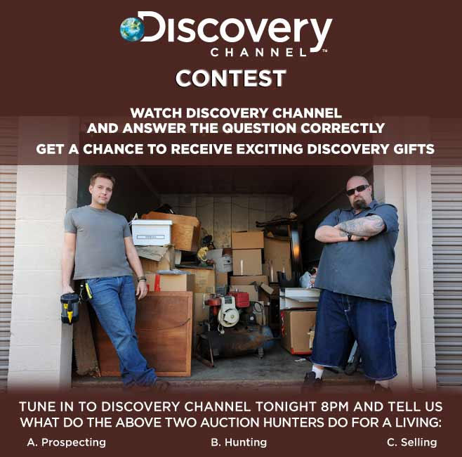 Contest !! Discovery Channel contest Win Gifts !! Discovery