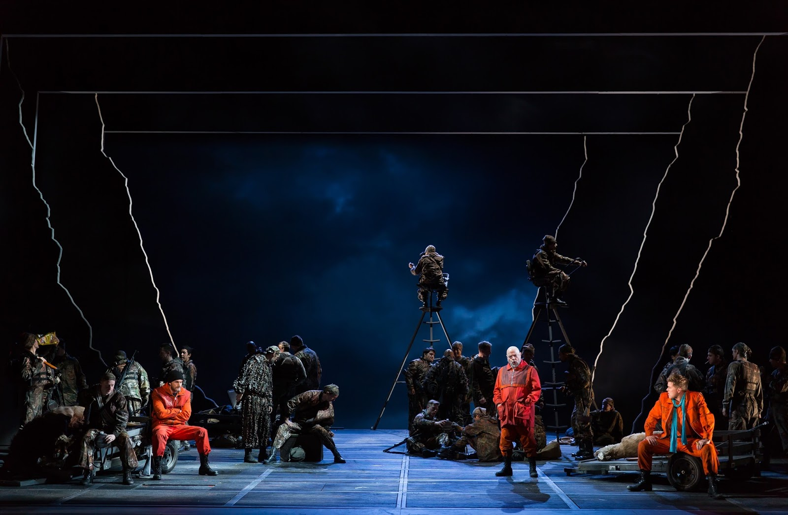 IN PERFORMANCE: a scene from FRANCESCA ZAMBELLO's production of Richard Wagner's GÖTTERDÄMMERUNG at Washington National Opera, May 2016 [Photo by Scott Suchman, © by Washington National Opera]