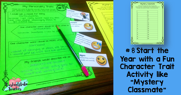 using character traits as a get to know you activity