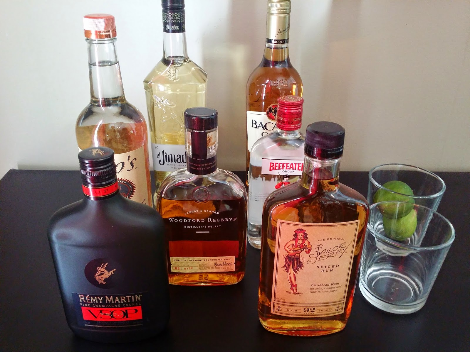 Liquor Cabinet: Starter Bar for my birthday! - Page and Amber