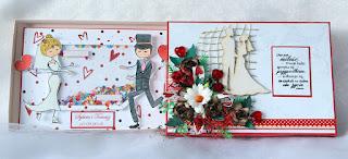handmade, kartka ślubna, kartka w pudełku, ręcznierobiona kartka, prezent na ślub, jak wręczyć pieniądze na ślub, kartka na zamówienie,
