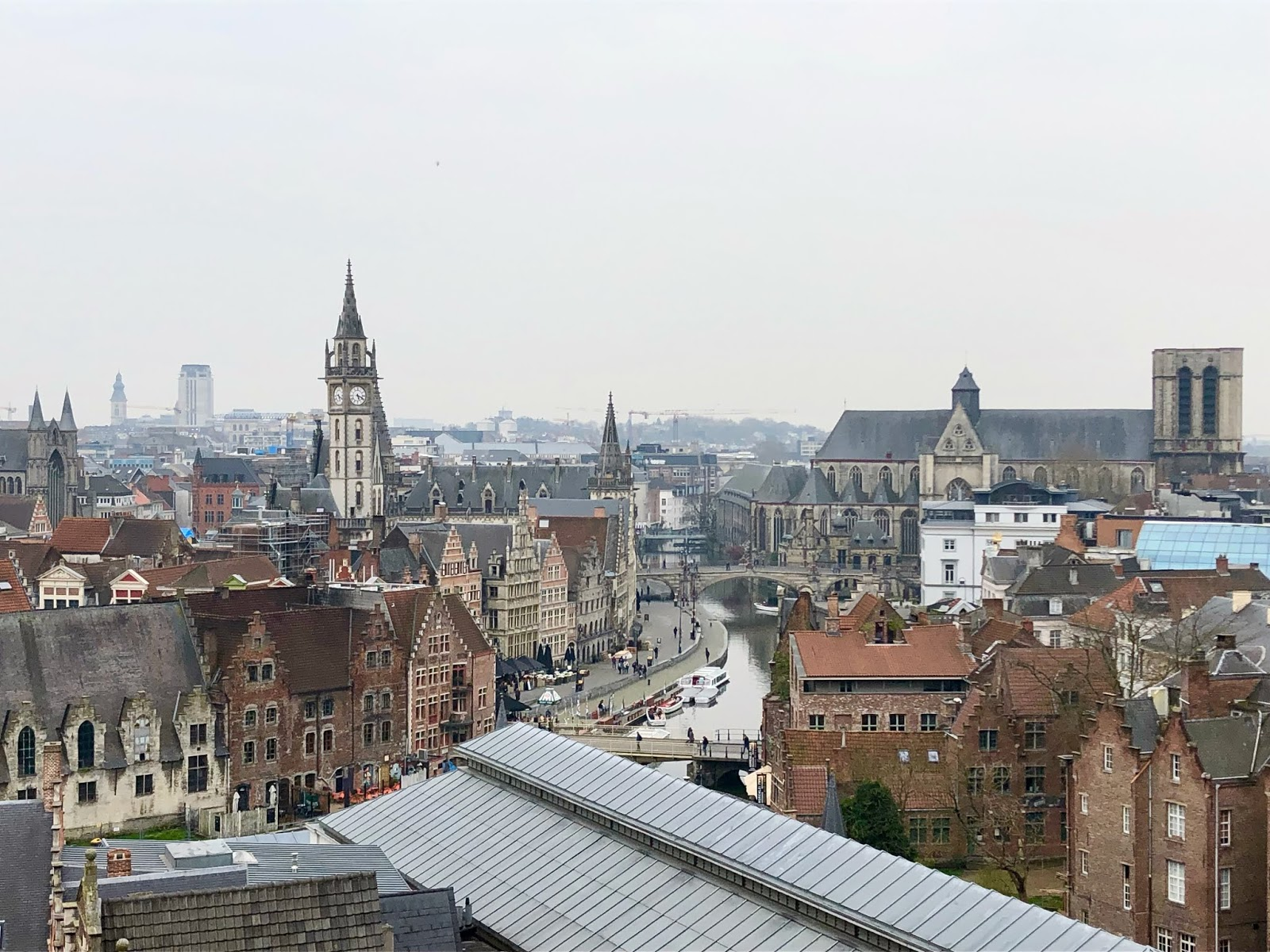 Best view from top of the castle in Ghent, Belgium