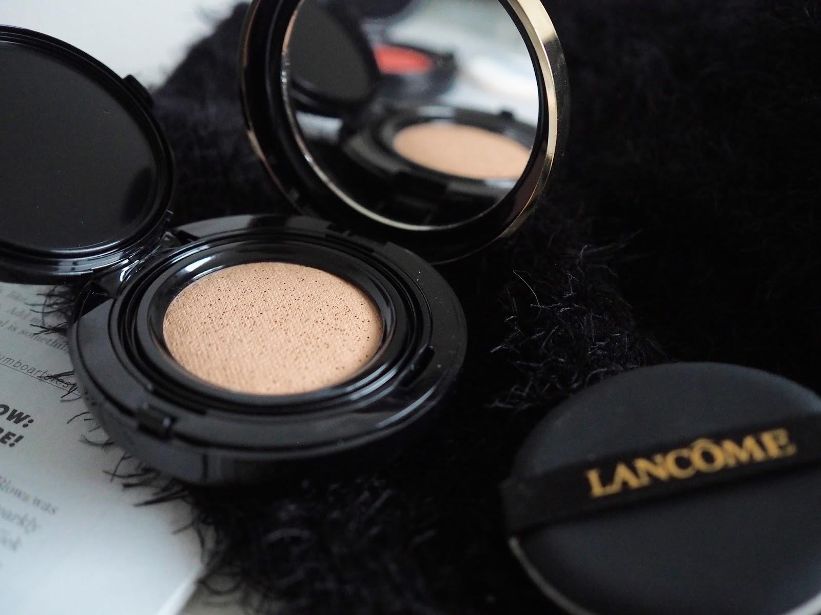 lancome grandiose liner cushion foundation cushion blush blog review