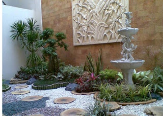 Tukang taman Surabaya, desain taman Surabaya, jasa taman, taman kering, taman minimalis