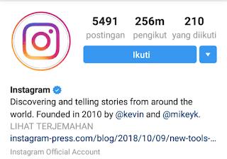 Cara mengajukan verifikasi akun instagram