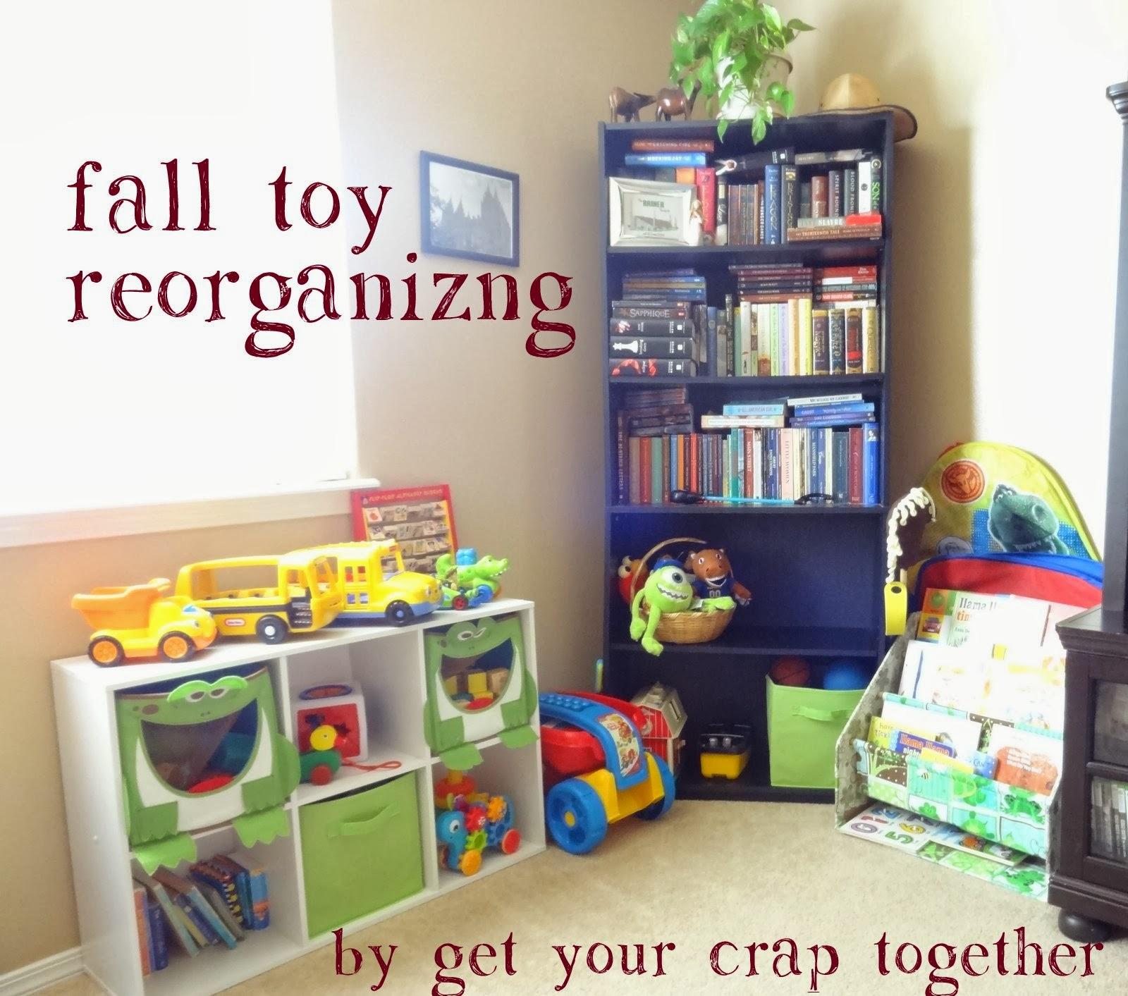 Reorganizing Room: Fall Toy Reorganizing