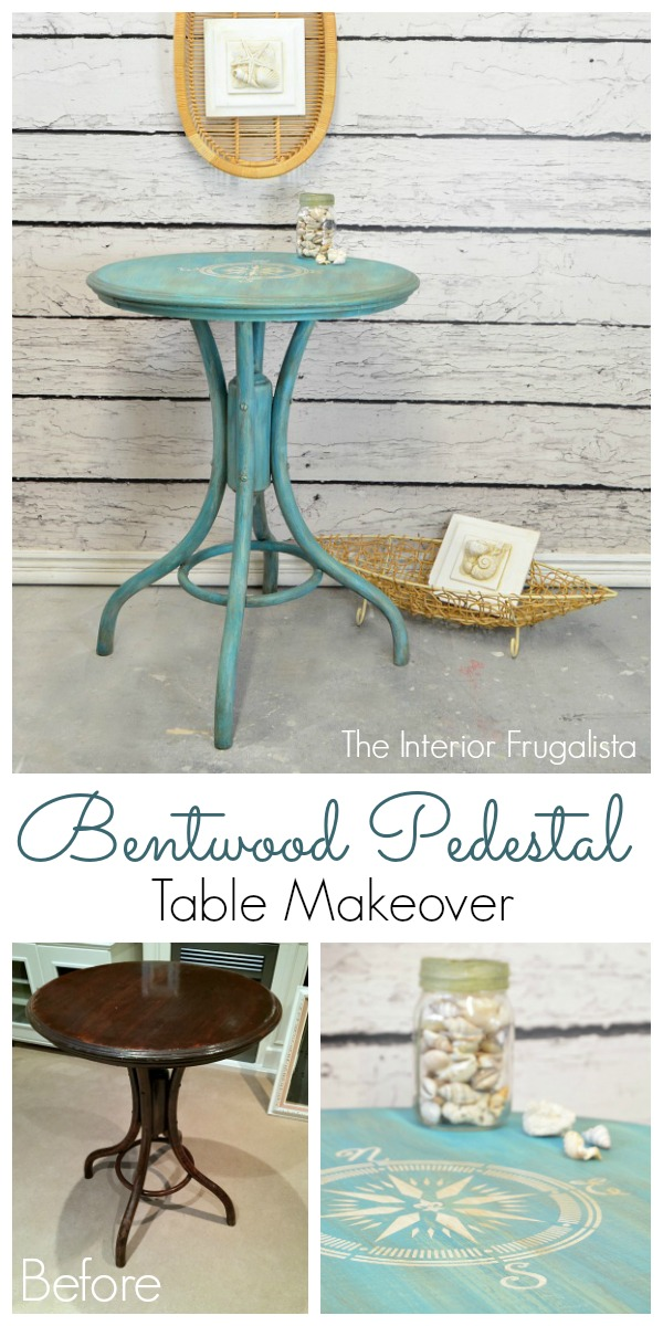 Bentwood Pedestal Cafe Table Before and After