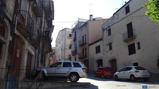 Hostalric, carrer del forn (la Selva, Catalunya, Espanya)