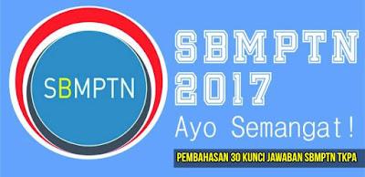 Kunci Jawaban Soal Try Out SBMPTN TKPA 2017
