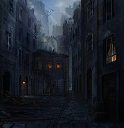 medieval town fantasy deviantart dark night alleyway joakimolofsson concept slums building paysage street alley evil dessin seedy episodeinteractive ext med