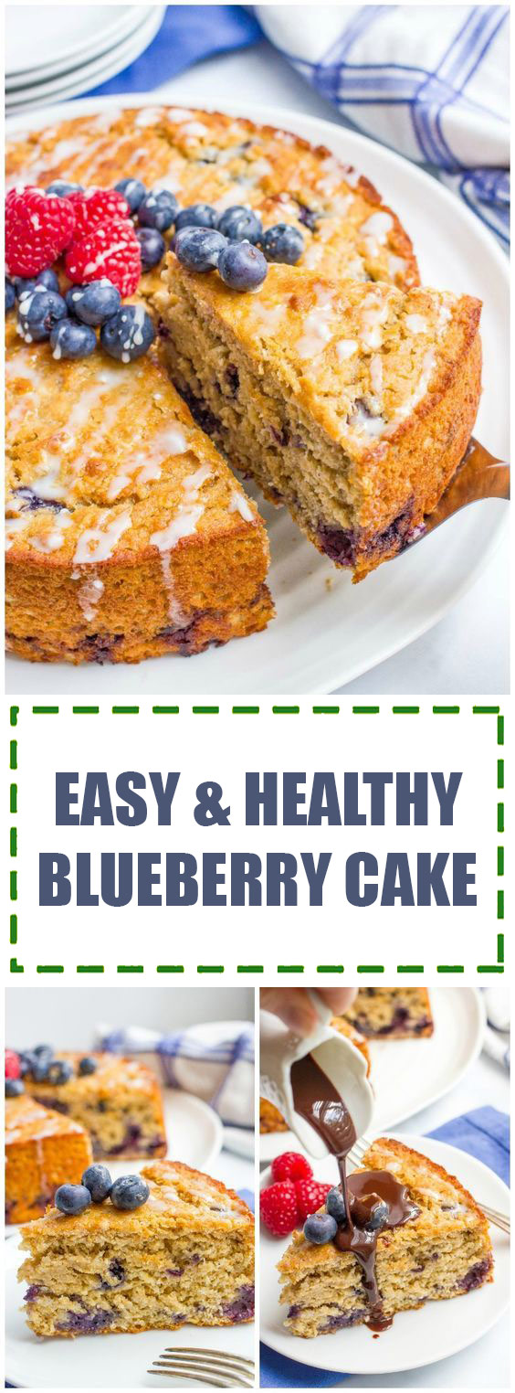 Easy & Healthy Blueberry Cake