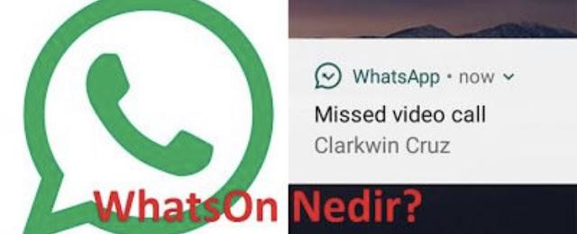 WhatsOn Whatsapp Takip Uygulaması