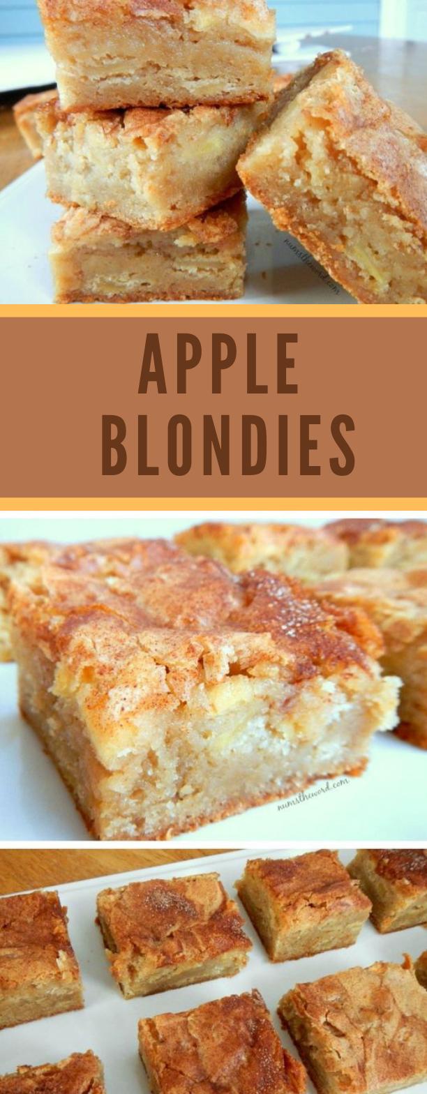 Apple Blondies #cake #dessert
