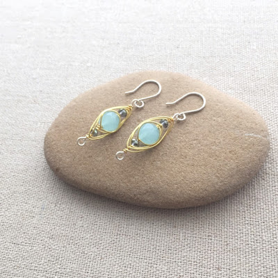 herringbone wire wrave earrings - free tutorial