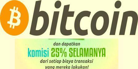 Dapatkan Komisi 25% Seumur Hidup Dengan Menjalankan Program Referral Bitcoin.co.id