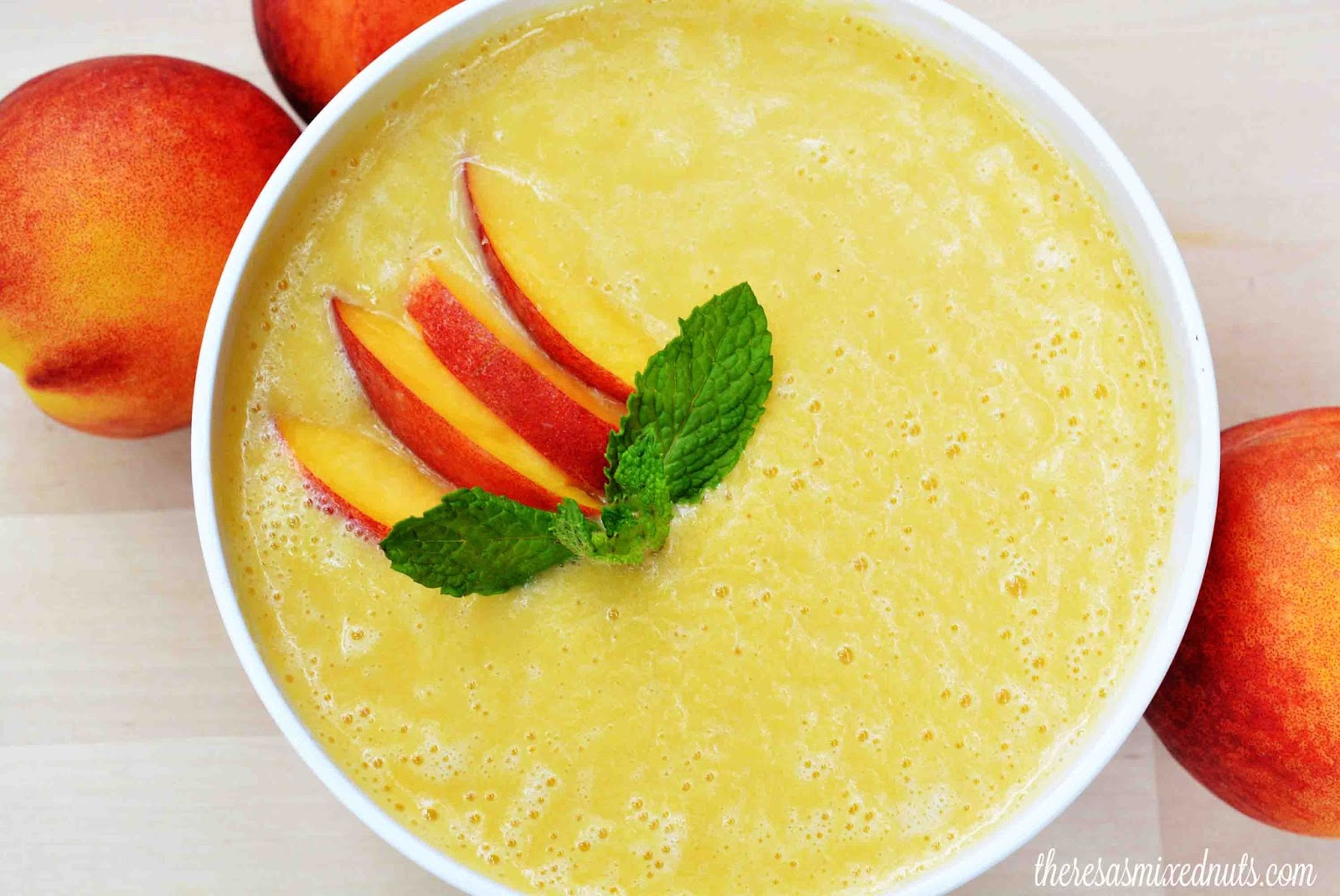Theresa's Mixed Nuts: Life's Peachy with Chilled Peach Soup