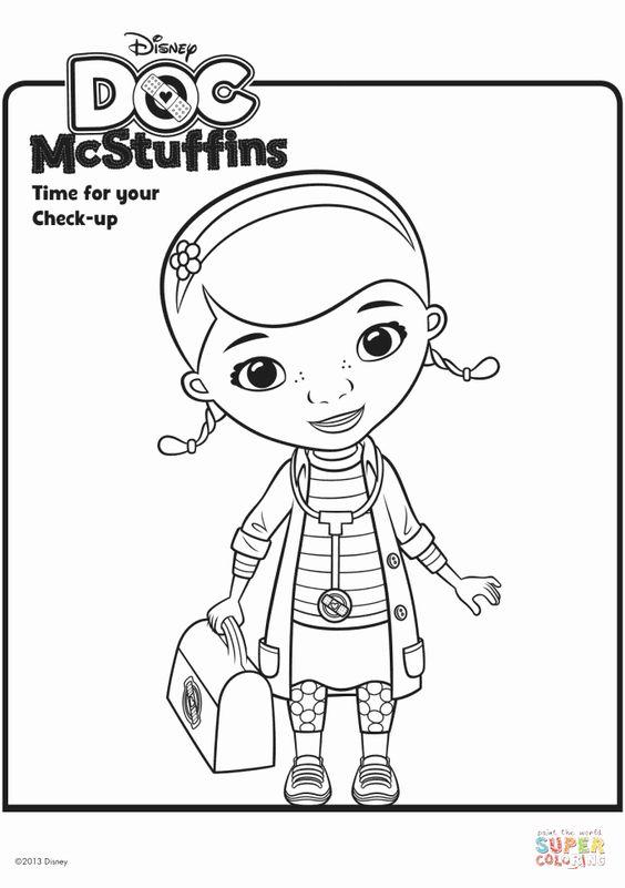 Tranh tô màu bác sĩ Doc Mcstuffins 00