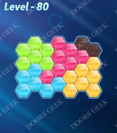 Block! Hexa Puzzle [5 Mania] Level 80 Solution, Cheats, Walkthrough for android, iphone, ipad, ipod