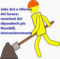 Job Act e riforma del lavoro, mansioni dei lavoratori più flessibili e demansionamento