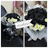 Hand Bouquet Mawar Hitam 1608211420