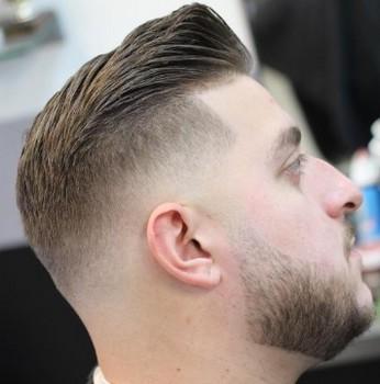 potongan rambut pria untuk wajah bulat dan rambut tipis