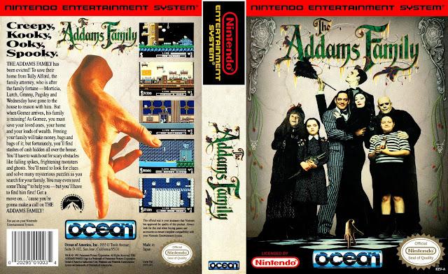 Capa The Addams Family NES