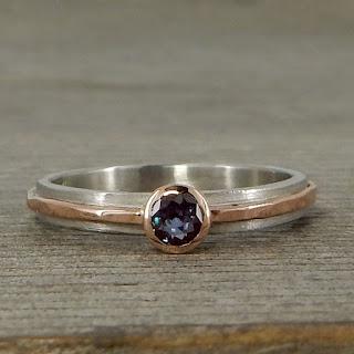 petite alexandrite ring
