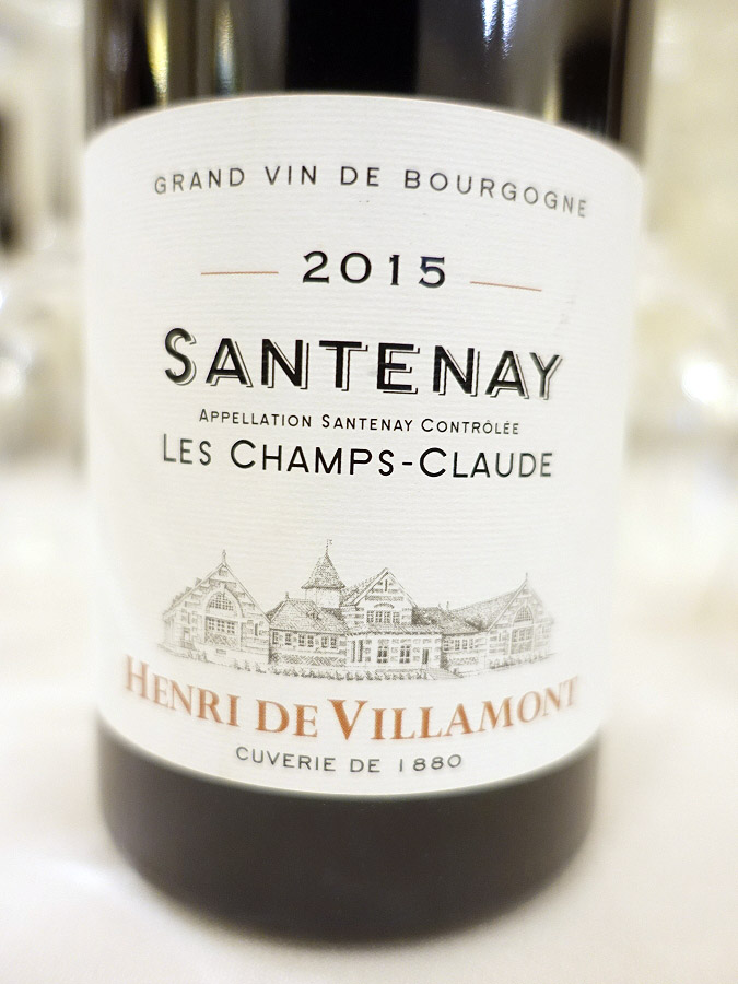 Henri de Villamont Santenay Les Champs-Claude 2015 (89 pts)