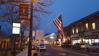 Main St at night in downtown Franklin
