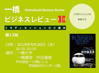 【お知らせ】第13回一橋ビジネスレビュー・スタディセッション