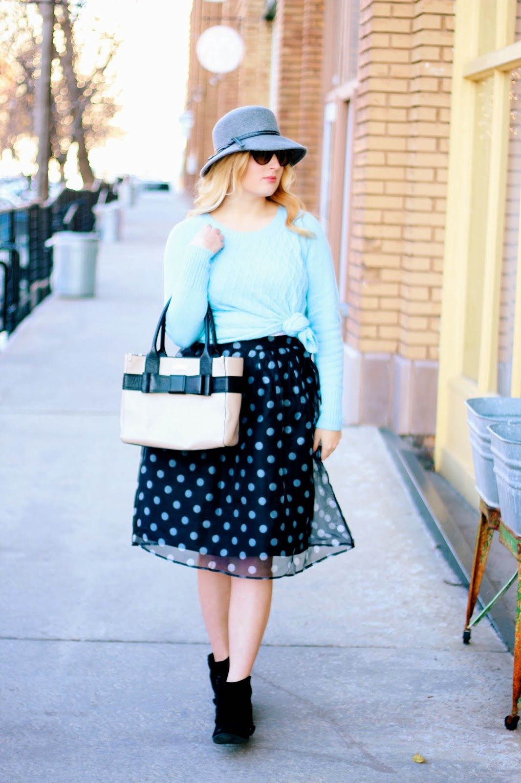 Mint and Polka Dots OOTD