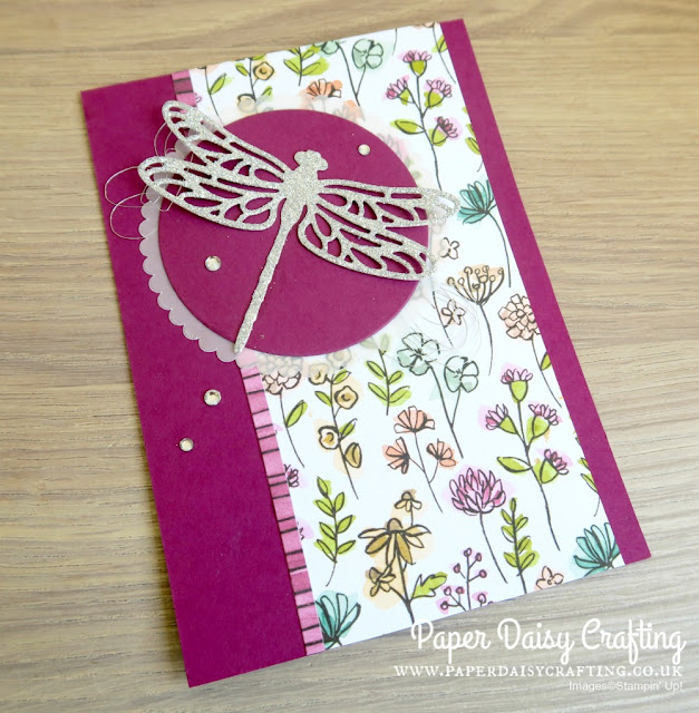 Detailed Dragonfly thinlits Stampin Up